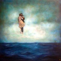Soñando una danza sobre el mar del pintor vietnamés surrealista, Duy Huyhn