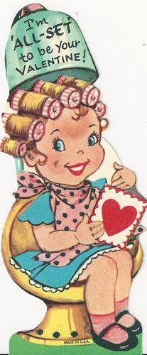 postcard.quenalbertini: Vintage Valentine Card | eBay es.pinterest.com/pin/21392166959282191/