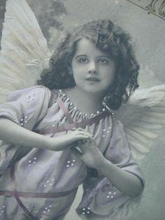 Vintage angel photo postcard, ca. 1900s