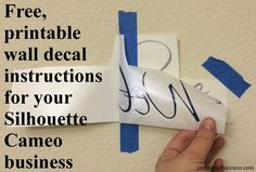 Free, printable wall decal instructions for your Silhouette Cameo business by cuttingforbusiness.com