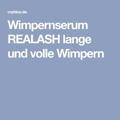Wimpernserum REALASH lange und volle Wimpern
