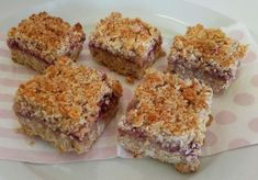 Hi Lose Baby Weight I think I've put together a reasonably healthy version of the raspberry coconut slice! It tastes heaps yummy and reminds me a bit of Anzac biscuits too. 1 cup wholemeal self raising flour cup almond meal … Continue reading → Healthy Mummy Recipes, Healthy Sweet Treats, Healthy Baking, Healthy Desserts, Sweet Recipes, Healthy Food, Healthy Slice, Fruit Recipes, Yummy Recipes