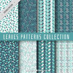 Collection de motif de feuilles