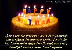 Romantic Birthday Quotes for Boyfriend   Romantic birthday scraps, greetings and cards, happy birthday love ...