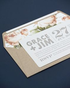 Rustic Chic invitations by Seven Swans wedding stationery
