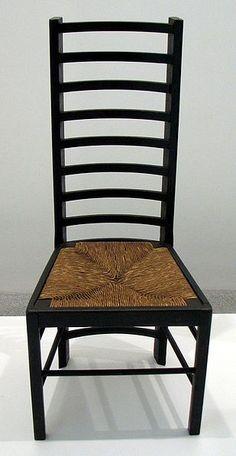 A Charles Rennie Mackintosh chair from 1917