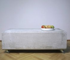 Five Concrete Coffee Tables