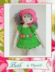 Amigurumi doll crochet doll ♥ www.etsy.com/shop/chepidolls