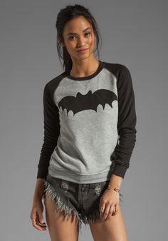 ZOE KARSSEN Loose Fit Bat Sweater in Grey Heather