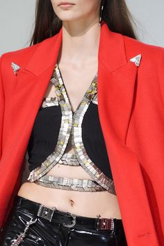 Versace Fall 2013 (Details) Shiny Bling on garments becomes more prominent as the trends move closer to 2014