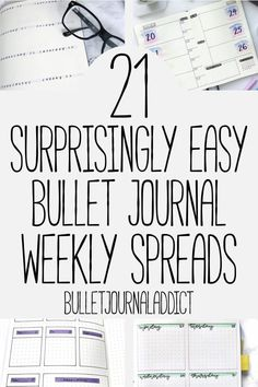 Bullet Journal Weekly Spreads for Beginners - Bullet Journals For Beginners - Easy Bullet Journal Weekly Spreads - Minimalist Weekly Spreads - 21 Super Simple Bullet Journal Weekly Spreads Bullet Journal Inspo, Bullet Journal First Page, How To Bullet Journal, Bullet Journal For Beginners, Bullet Journal Monthly Spread, Bullet Journal Ideas Pages, Journal Pages, Bullet Journals, Bullet Journal Labels