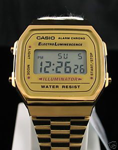 CASIO VINTAGE RETRO GOLD DIGITAL WATCH A168WG A168 NEW!