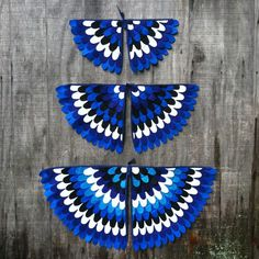 Magical Creature Wings, Costume Wings blue jay / parrot / blue bird / serpent, Many Sizes, Eco Friendly