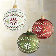 Scandi Flower Ball Ornaments