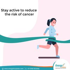 Being physically active and improving our general lifestyle has a great positive impact on the functioning of our body which in turn reduces the risk of cancer. Lung Cancer, Breast Cancer, Types Of Cancers, Cancer Facts, Cancer Treatment, Our Body, Cancer Awareness, Omega, Positivity