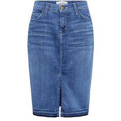 Current/elliott - The High Rise Denim Pencil Skirt (7.205 RUB) ❤ liked on Polyvore featuring skirts, bottoms, denim skirt, юбка, blue denim skirt, fitted pencil skirt, high-waisted skirts, denim pencil skirt and high waist skirt