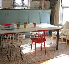 this is kinda what i want to do for our dining room! only more colors.