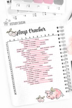 17 Adorable Bullet Journal Sleep Trackers You Have To See - Crazy Laura <br> Looking to start logging your sleep times in your bujo? Check these awesome bullet journal sleep trackers to get you started!