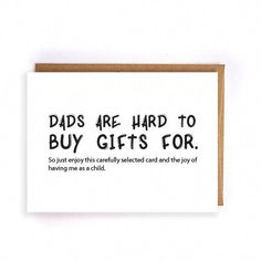 Father Birthday Gifts Funny Fathers Day Card Husband From Daughter Kids