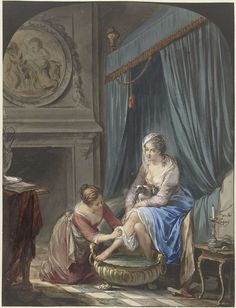 Toilet of a young woman, Willem Joseph Laquy, 1771