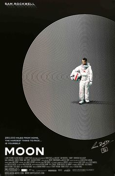 Moon (2009) Original Autographed One Sheet Movie Poster
