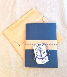 This nautical wedding invitation has a rustic feel while still being elegant. Perfect for a beach or destination wedding too! Want to see this invitation finished in other ways or find matching day of items? Search RC18009 in our shop homepages search bar. Each invitation set