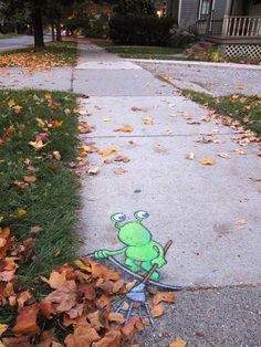 David Zinn'in Sevimli Sokak Sanatı