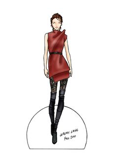 JEREMY LAING __ FALL 2010 READY TO WEAR |  The model who inspired the doll is Ann Kenny. 1 of 3
