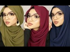 HIJAB STYLES FOR READING GLASSES | SAIMASCORNER - YouTube