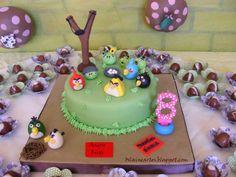 Bolo Decorado e Cupcakes Angry Birds