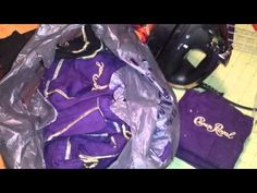 How to prep your Crown Royal bags for a quilt. - YouTube