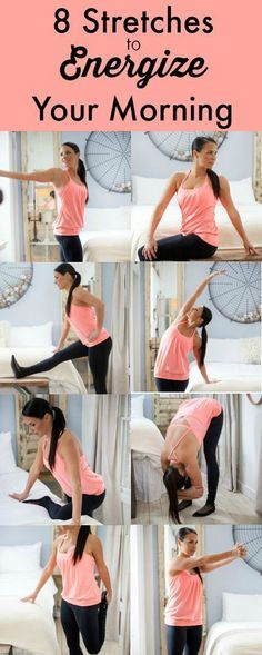 Some of us are having some trouble to get out of bed and to start the day. Here are some energizing stretches that will help you to get through your morning. #Fitgirlcode