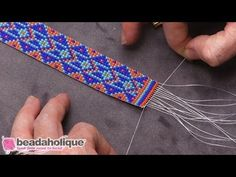 Best Seed Bead Jewelry 2017 How to finish Loom Work with a slider clasp Seed Bead Tutorials Seed Bead Tutorials, Seed Bead Patterns, Beaded Jewelry Patterns, Beading Tutorials, Beading Patterns, Beading Techniques, Beading Ideas, Beading Supplies, Knitting Patterns
