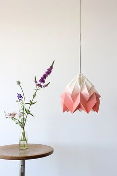 Origami, coral, ombre: There are so many good things happening here.