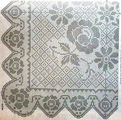 Kira scheme crochet: Scheme crochet no. 1319 Crochet Diagram, Filet Crochet, Crochet Tablecloth, Crochet Doilies, Table Covers, Crochet Designs, Retro, Arts And Crafts, Quilts