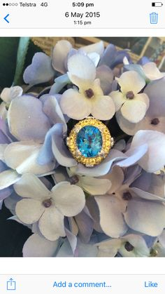 Blue Topaz, Yellow Sapphire, Diamond and Blue Sapphire ring what an amazing combination set in 14ct White Gold. Perfect right hand ring.