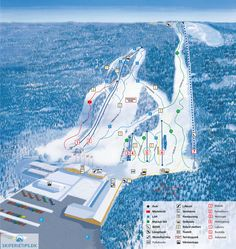 Vallåsen Piste Map (High resolution / .JPEG) #skiing #sweden
