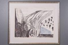 Jan Kenneth Weckman: Maisema, 1989, litografia, 50x65 cm, edition 55/100 -  Huutokauppa Helander 04/2015 Finland, Art, Art Background, Kunst, Performing Arts, Art Education Resources, Artworks