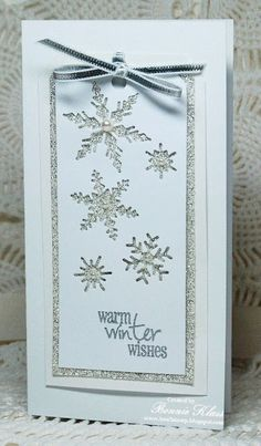 Stamping with Klass: Sparkling Snowflakes for Queen LM