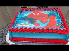 Spiderman Cake Ideas for Little Super Heroes - Novelty Birthday Cakes Birthday Pins, Fourth Birthday, 2nd Birthday Parties, Novelty Birthday Cakes, Cool Birthday Cakes, Birthday Party Invitations Free, Birthday Party Decorations, Spiderman Birthday Cake, Rectangle Cake