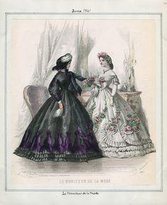 Casey Fashion Plates Detail | Los Angeles Public Library Le Moniteur de la Mode Date:  Saturday, June 1, 1861