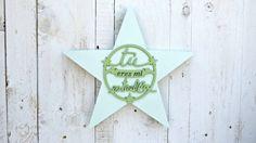 Estrella pintada VERDE por SmileAndWood en Etsy