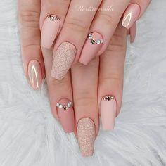 Elegant Nails, Stylish Nails, Trendy Nails, Best Acrylic Nails, Acrylic Nail Designs, Nail Art Designs, Crome Nails, Milky Nails, Blush Nails
