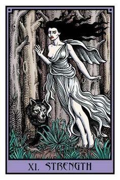 XI. Strength Card From The Vampire Tarot // Tarot Luv