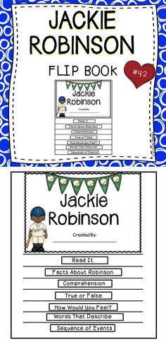 Jackie Robinson - A Fun and Engaging Flip Book For The Classroom!