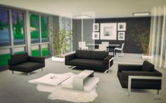 Toronto Living Room I  by Alachie & Brick Sims via anbs.co  I Alpha I Sims 4 I TS4 I CC I