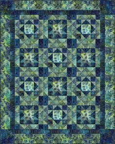 Batik Quilt Patterns | Home / Get inspired / Free quilt patterns / Midnight sky