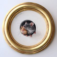 Mice, by Marina Dieul (trompe l'oeil). Adorable kind of miniature paintings.