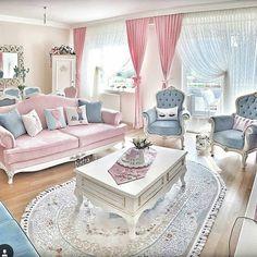 Most Popular Living Room Design Ideas Pastel Living Room, Chic Living Room, Living Room Sofa, Living Room Furniture, Living Room Decor, Bedroom Decor, Sofa Design, Interior Design, Home Decor Furniture