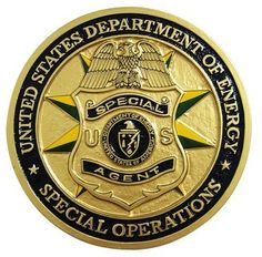 usa department of energy special operations this plaque shows the emblem of the usa department of energy special operations. this mahogany wood plaque is handmade from carving to finishing. Fire Badge, Law Enforcement Badges, Police Life, Local Police, Police Patches, Military Gear, Challenge Coins, Special Forces, Science And Nature